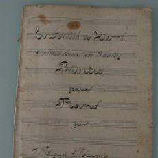 Partituras musicales: ANTIGUA PARTITURA PARA PIANO: EL ANILLO DE HIERRO DRAMA LIRICO EN TRES ACTOS MIGUEL MARQUES 1901. Lote 63276668