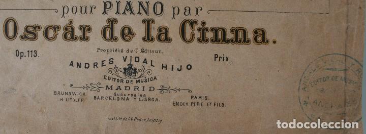 Partituras musicales: ANTIGUA PARTITURA PIANO OSCAR DE LA CINNA: TRES SERENATAS VASCAS - ANDRES VIDAL HIJO EDITOR MUSICA - Foto 2 - 63277188