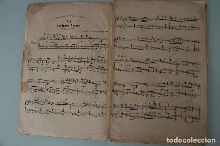Partituras musicales: ANTIGUA PARTITURA PIANO OSCAR DE LA CINNA: TRES SERENATAS VASCAS - ANDRES VIDAL HIJO EDITOR MUSICA - Foto 3 - 63277188