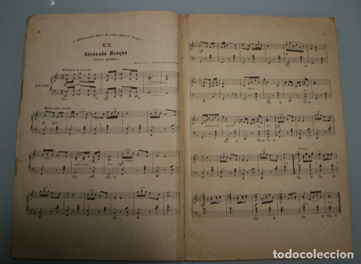 Partituras musicales: ANTIGUA PARTITURA PIANO OSCAR DE LA CINNA: TRES SERENATAS VASCAS - ANDRES VIDAL HIJO EDITOR MUSICA - Foto 4 - 63277188