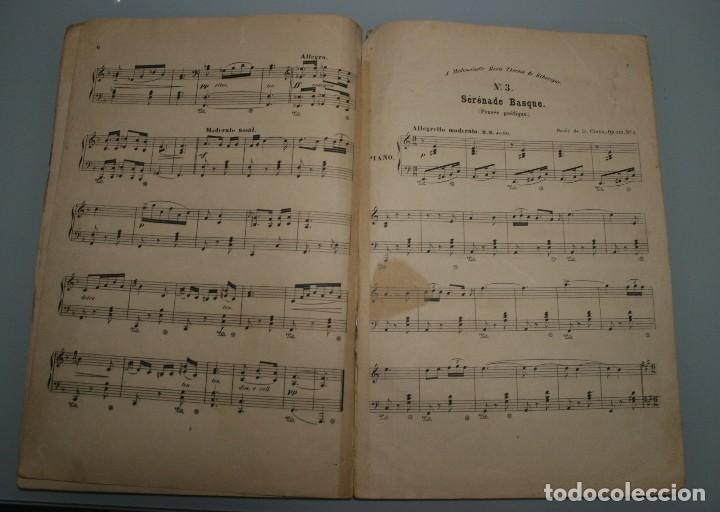 Partituras musicales: ANTIGUA PARTITURA PIANO OSCAR DE LA CINNA: TRES SERENATAS VASCAS - ANDRES VIDAL HIJO EDITOR MUSICA - Foto 5 - 63277188