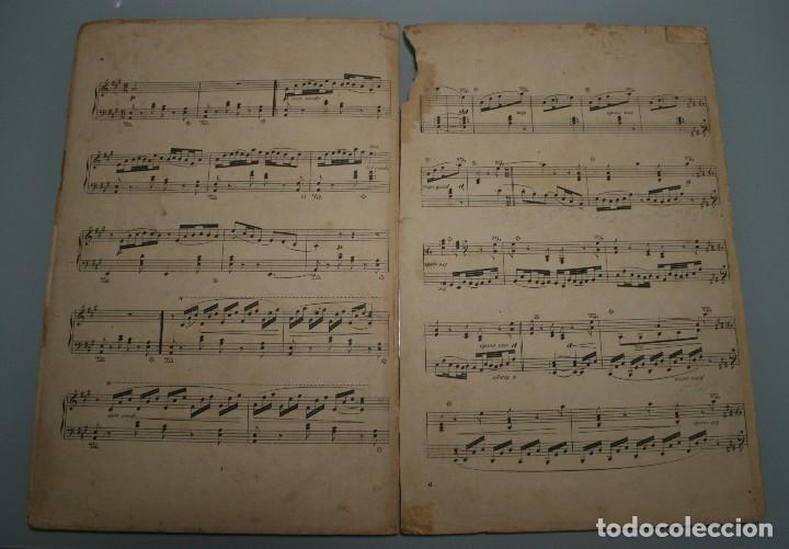 Partituras musicales: ANTIGUA PARTITURA PIANO OSCAR DE LA CINNA: TRES SERENATAS VASCAS - ANDRES VIDAL HIJO EDITOR MUSICA - Foto 6 - 63277188