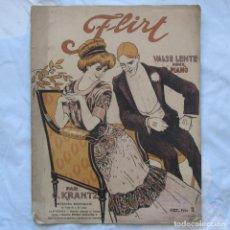 Partituras musicales: FLIRT VALSE LENTE POUR PIANO C. KRANTZ. Lote 64144351