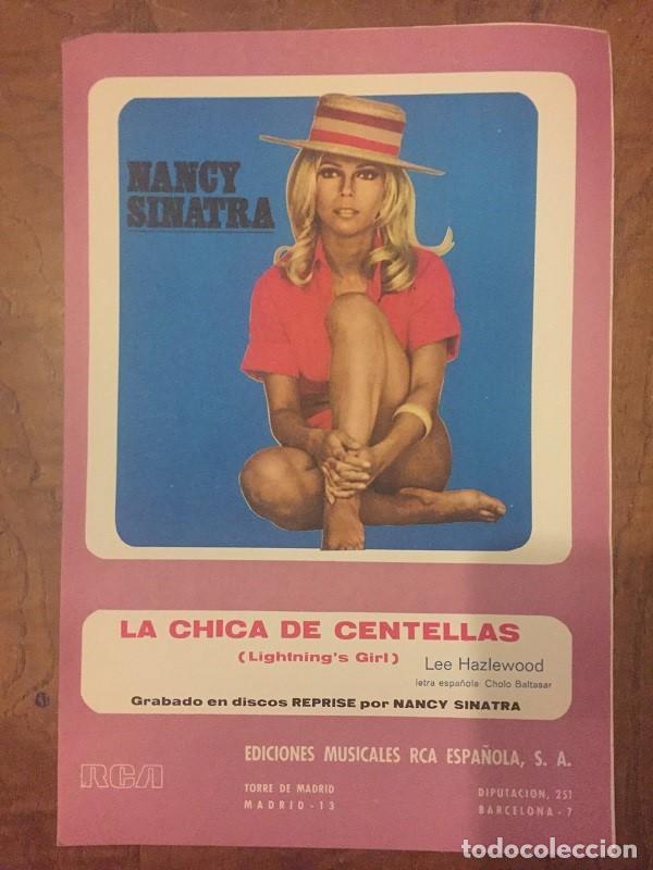 PARTITURA LA CHICA DE CENTELLAS - LIGHTNING´S GIRL - NANCY SINATRA. DÍPTICO FOLIO (Música - Partituras Musicales Antiguas)