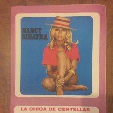 Partituras musicales: PARTITURA LA CHICA DE CENTELLAS - LIGHTNING´S GIRL - NANCY SINATRA. DÍPTICO FOLIO. Lote 64178211