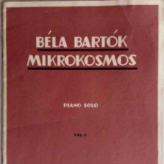 Partituras musicales: BELA BARTOK. MIKROKOSMOS. PIANO SOLO. VOL. 1 PARTITURA 30 PAGINAS. Lote 64706615