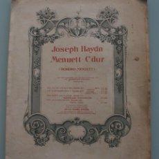 Partituras musicales: ANTIGUA PARTITURA COMPLETA JOSEPH HAYDN MENUETT CDUR (ROKOKO MENUETT - OTTO JUNE LEIPZIG. Lote 64971459