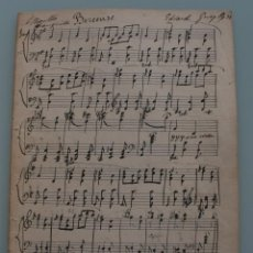 Partituras musicales: ANTIGUA PARTITURA: BEREEUSE – EDVARD GRIEG COMPLETA PRINCIPIOS AÑOS 1900 - BIEN CONSERVADA . Lote 64972687