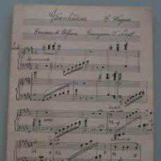 Partituras musicales: ANTIGUA PARTITURA MUSICA: FANNHÄUSER – R. WAGNER – ROMANZA DE WOLFRAM COMPLETA PRINCIPIOS AÑOS 1900 . Lote 64975063