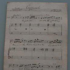 Partituras musicales: ANTIGUA PARTITURA MUSICA: CREPUSCULO POESIA DE ARMANDO SILVESTRE - MASSERIET PRINCIPIOS AÑOS 1900. Lote 64975791