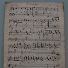 Partituras musicales: ANTIGUA PARTITURA MUSICA: MAZURCA COMPLETA PRINCIPIOS AÑOS 1900 CONSERVADA EN MUY BUEN ESTADO . Lote 64976923