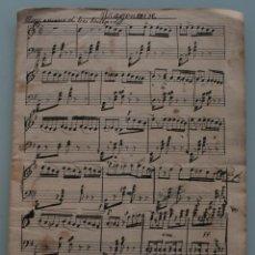 Partituras musicales: ANTIGUA PARTITURA MUSICA: ARAGONAISE COMPLETA PRINCIPIOS AÑOS 1900 CONSERVADA EN MUY BUEN ESTADO . Lote 64977479