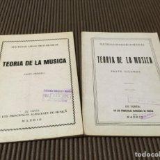Partituras musicales: TEORIA DE LA MUSICA - 1 Y 2 ( TIENE ALGUNOS SUBRAYADOS CON LAPIZ ). Lote 65419419