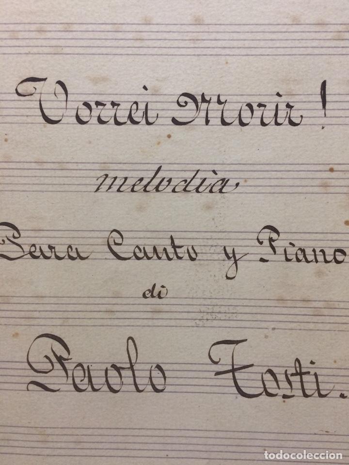 Partituras musicales: partitura vorrei morir Paolo Tosti - Foto 2 - 65879078
