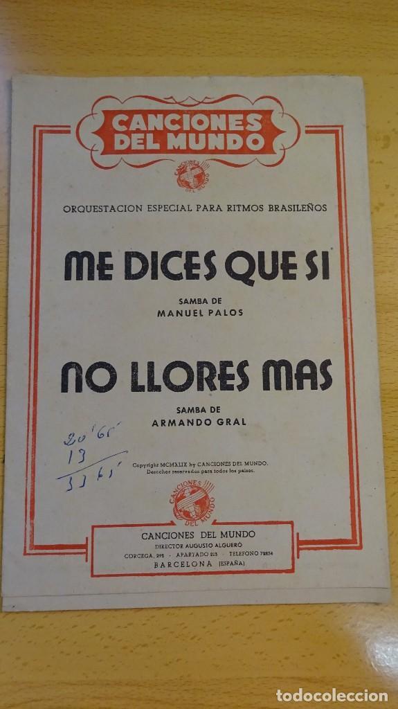 PARTITURA, CANCIONES DEL MUNDO, DIRECTOR AUGUSTO ALGUERÓ, SAMBA (Música - Partituras Musicales Antiguas)