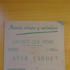 Partituras musicales: PARTITURA NUEVOS RITMOS Y MELODIAS, MADRID, FOX-TROT, SWING. Lote 65962834