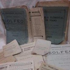Partituras musicales: LOTE DE ANTIGUAS PARTITURAS Y LIBROS DE SOLFEO . Lote 66951466
