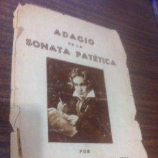 Partituras musicales: ANTIGUA PARTITURA DE BEETHOVEN (ERROR DE IMPRENTA)SE ESCUCHAN OFERTAS. Lote 67283575