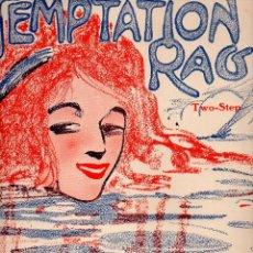 Partituras musicales: NERY LODGE : TEMPTATION RAG (WITMARK & SONS) CUBIERTA DE EDGAR KELLER. Lote 68960481