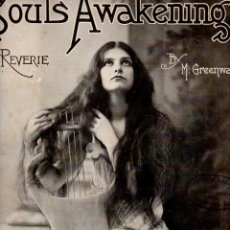 Partituras musicales: GREENWALD : SOULS AWAKENING REVERIE (LEO FEIST, 1895). Lote 68960757
