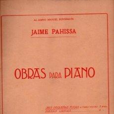 Partituras musicales: JAIME PAHISSA : OBRAS PARA PIANO - SEIS PEQUEÑAS FUGAS A TRES VOCES (UNIÓN MUSICAL, 1919). Lote 68963345