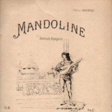 Partituras musicales: THOMÉ : MANDOLINE SERENADE ESPAGNOLE (LEMOINE, S.F.). Lote 68963961