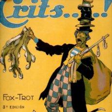 Partituras musicales: LUIS PUIGGENER : CRITS FOX TROT (1919) CUBIERTA ILUSTRADA POR JUNCEDA. Lote 68964389