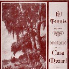 Partituras musicales: MOLES / UDAETA : EL TENNIS FOX TROT OBSEQUIO DE LA CASA MOZART (LUIS MAS, S.F.). Lote 68964893