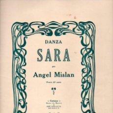 Partituras musicales: ÁNGEL MISLAN : SARA (JOSÉ LAZA, SAN JUAN DE PUERTO RICO, S.F.). Lote 179043865