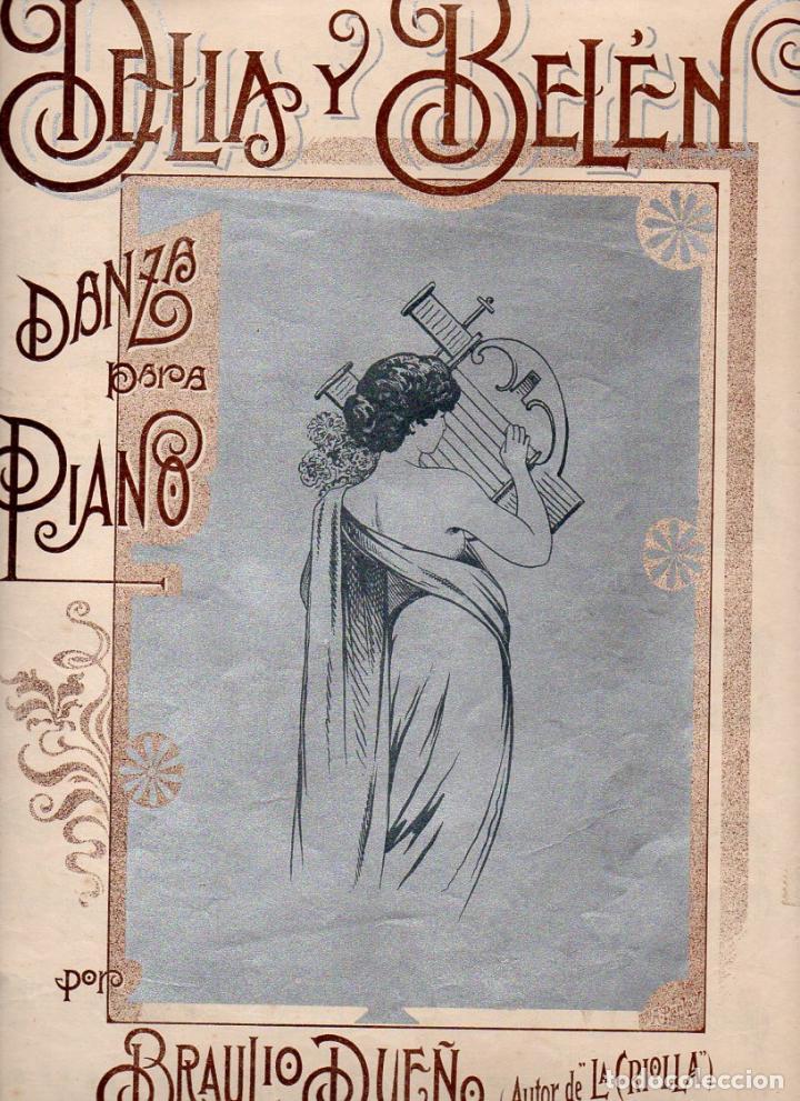 BRAULIO DUEÑAS : DELIA Y BELÉN (SAN JUAN DE PUERTO RICO, S.F.) (Música - Partituras Musicales Antiguas)