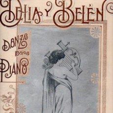Partituras musicales: BRAULIO DUEÑAS : DELIA Y BELÉN (SAN JUAN DE PUERTO RICO, S.F.). Lote 68967165