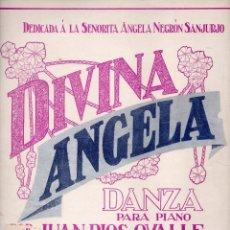Partituras musicales: RÍOS OVALLE : DIVINA ÁNGELA (GIUSTI, SAN JUAN DE PUERTO RICO, S.F.). Lote 68967309
