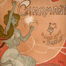 Partituras musicales: WORSLEY : CHARMANT VALSE LENTE BOSTON (ASTORT, 1902) CUBIERTA MODERNISTA DE BRUNET. Lote 153359101
