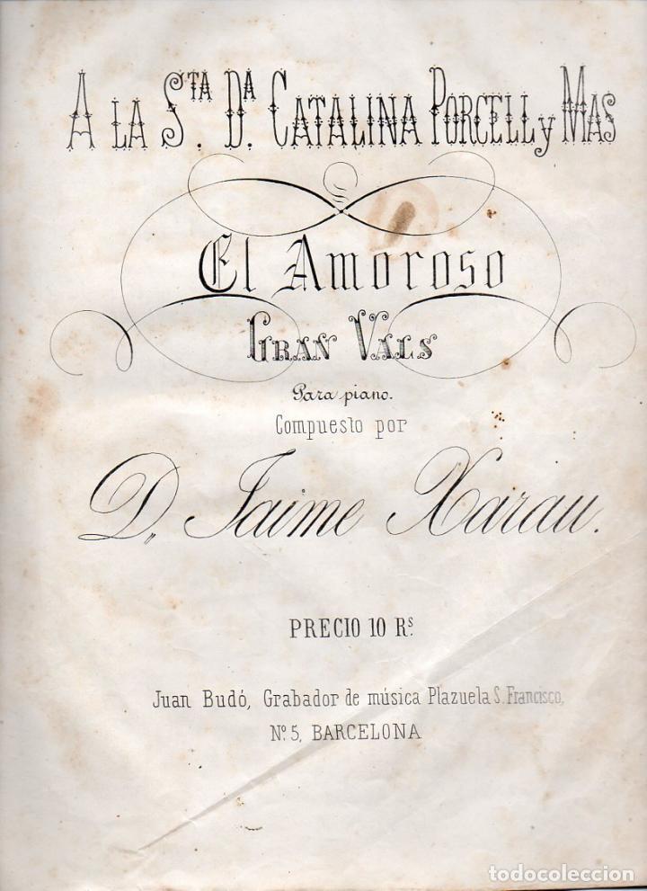 JAIME XARAU . EL AMOROSO (JUAN BUDÓ, S.F.) (Música - Partituras Musicales Antiguas)