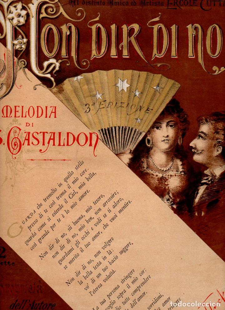 GASTALDON . NON DIR DI NO (VENTURINI S.F.) (Música - Partituras Musicales Antiguas)