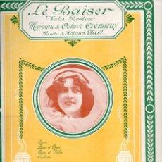 Partituras musicales: CREMIEUX : LE BAISER (DIGOUDE DIODET, PARIS, 1907). Lote 69011473