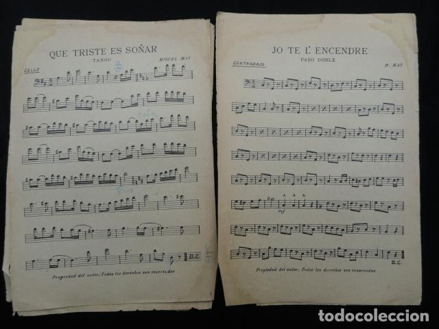Partituras musicales: PARTITURA ANTIGUA - QUE TRISTE ES SOÑAR -.TANGO Y - JO TE L'ENCENDRE -. PASODOBLE. - Foto 2 - 70163241