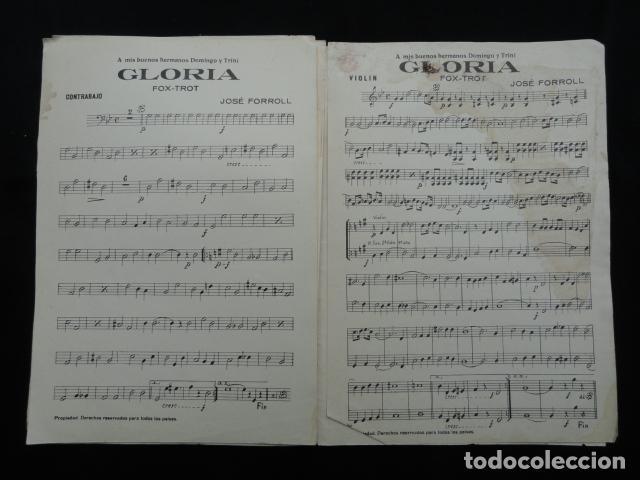 Partituras musicales: PARTITURA ANTIGUA - GLORIA -. FOX-TROT - Foto 2 - 70166053