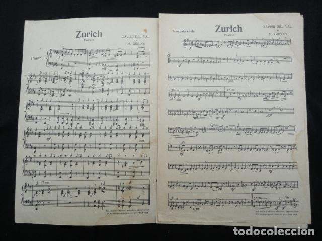 Partituras musicales: PARTITURA ANTIGUA - ZURICH -. FOX-TROT - Foto 2 - 70166517