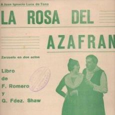 Partituras musicales: JACINTO GUERRERO : LA ROSA DEL AZAFRÁN - CANCIÓN DE LAS ESPIGADORAS (FAUSTINO FUENTES, 1930). Lote 71096621