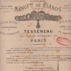 Partituras musicales: DUVERNOY : UNE VISITE A L'EXPOSITION UNIVERSELLE 1878 (VALSE POUR PIANO). Lote 71097589