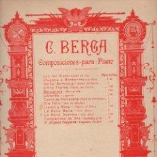 Partituras musicales: BERGA : BARCAROLA (DOTESIO). Lote 71097721