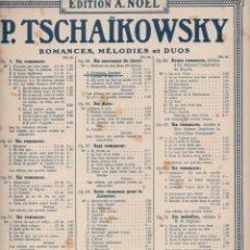 Partituras musicales: TCHAIKOWSKY : PRINTEMPS, JEUNESSE (NOEL). Lote 71098081