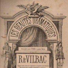 Partituras musicales: VILBAC : LES BEAUTÉS DRAMATIQUES (LEMOINE). Lote 71098869