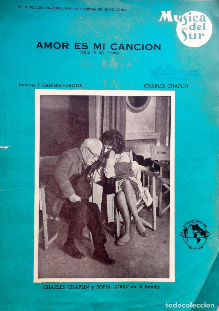 PARTITURA DE 1967 DEL FILM LA CONDESA DE HONG KONG (Música - Partituras Musicales Antiguas)