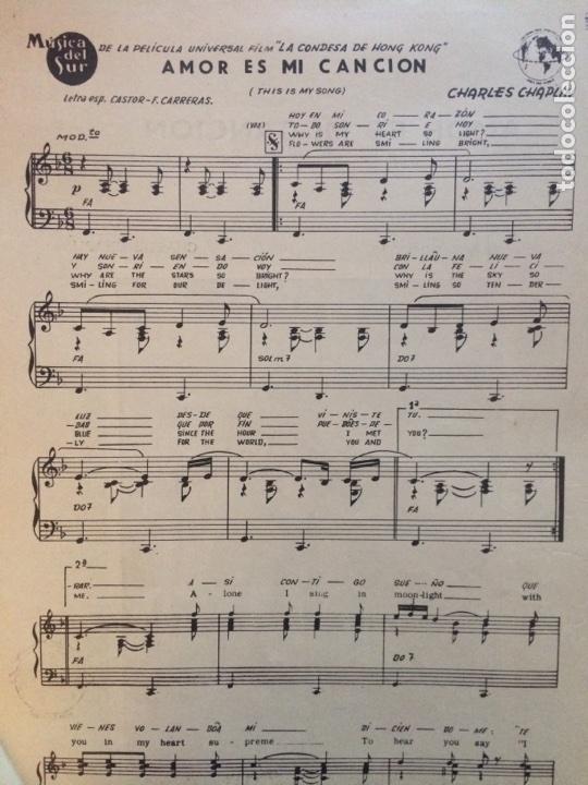 Partituras musicales: PARTITURA DE 1967 DEL FILM LA CONDESA DE HONG KONG - Foto 2 - 72684863