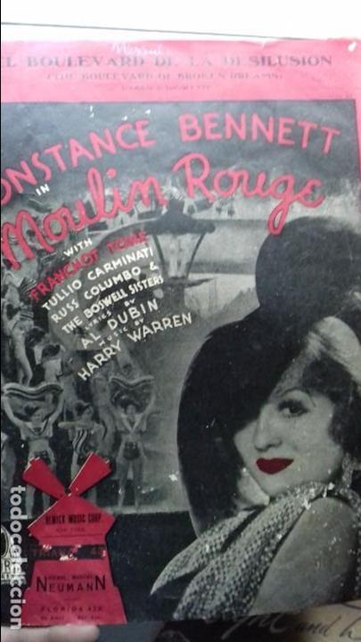 ANTIGUA PARTITURA CONSTANCE BENNETT MOULIN ROUGE (Música - Partituras Musicales Antiguas)