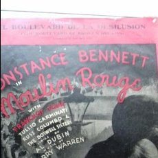 Partituras musicales: ANTIGUA PARTITURA CONSTANCE BENNETT MOULIN ROUGE. Lote 72713755