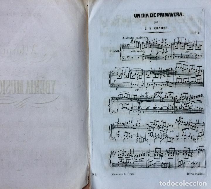 Partituras musicales: LITOGRAFÍA DE PARTITURAS ÁLBUM DE LA YBERIA MUSICAL 1844 - Foto 3 - 72886971