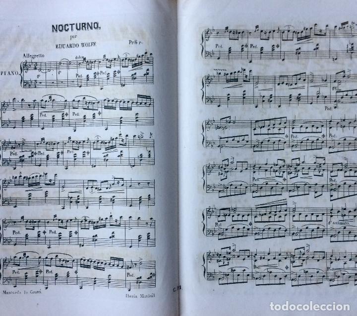 Partituras musicales: LITOGRAFÍA DE PARTITURAS ÁLBUM DE LA YBERIA MUSICAL 1844 - Foto 5 - 72886971